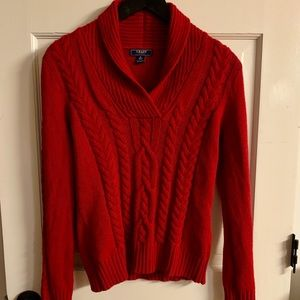 CHAPS / Casual and Chic Red Sweater- Medium